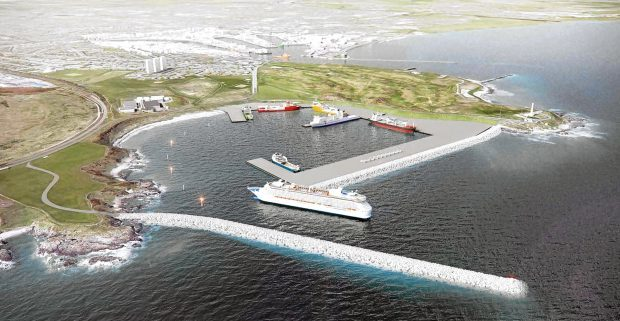 Artist impression of the proposed harbour at Nigg Bay    (SUBMITTED)