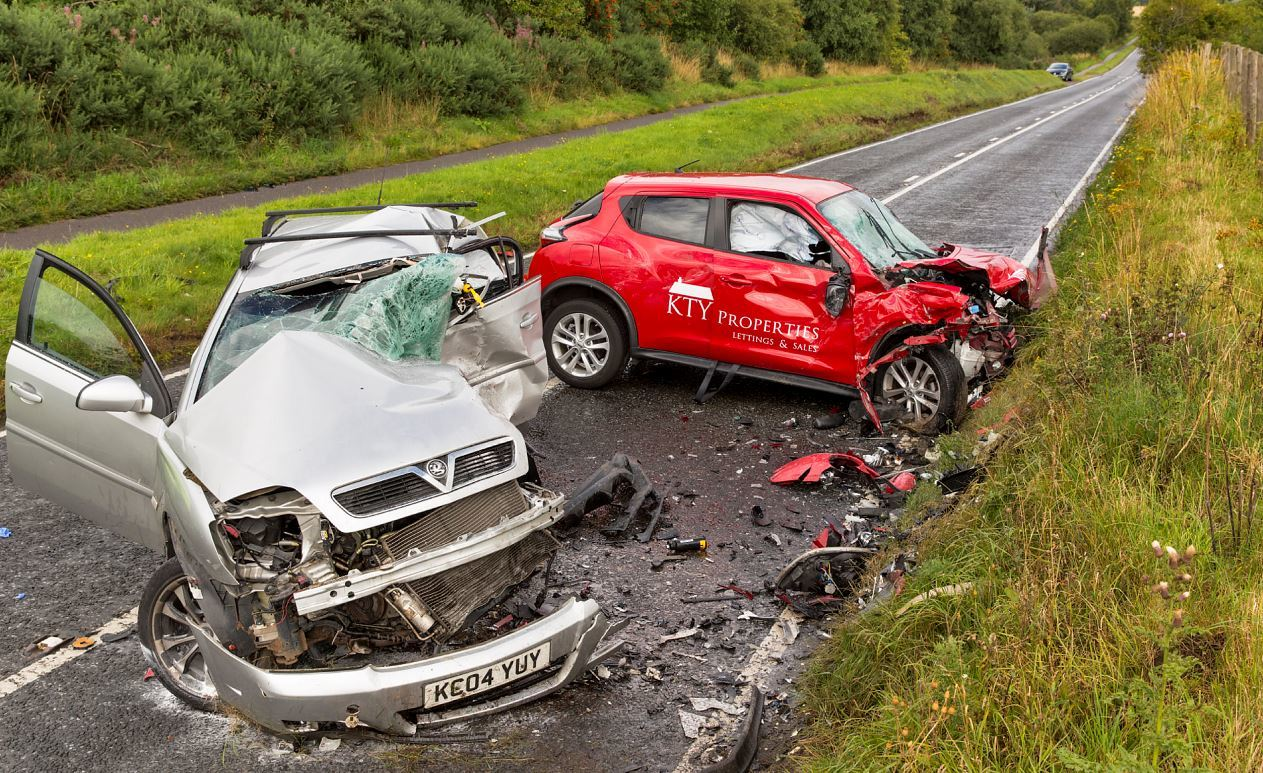 Katharine McLoughlin's Nissan Juke hit Ryan Adamson's Vauxhall Signum after it crossed into the wrong carriageway.