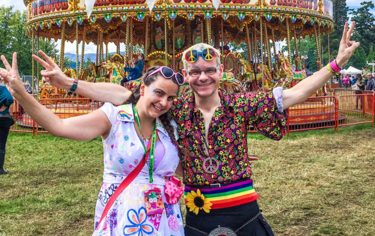 Michael and his sister Linsey photographed at the Belladrum Festival last week