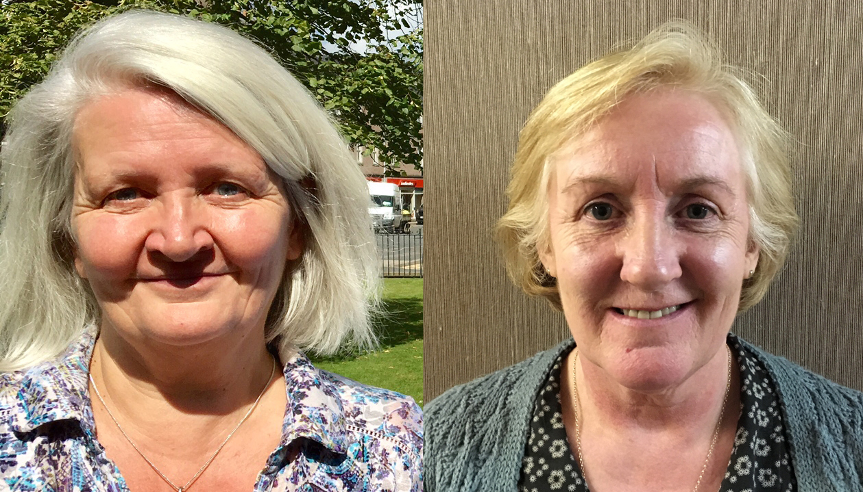 Conservative candidate Lesley Berry (L) and SNP candidate Elaine Mitchell (R)