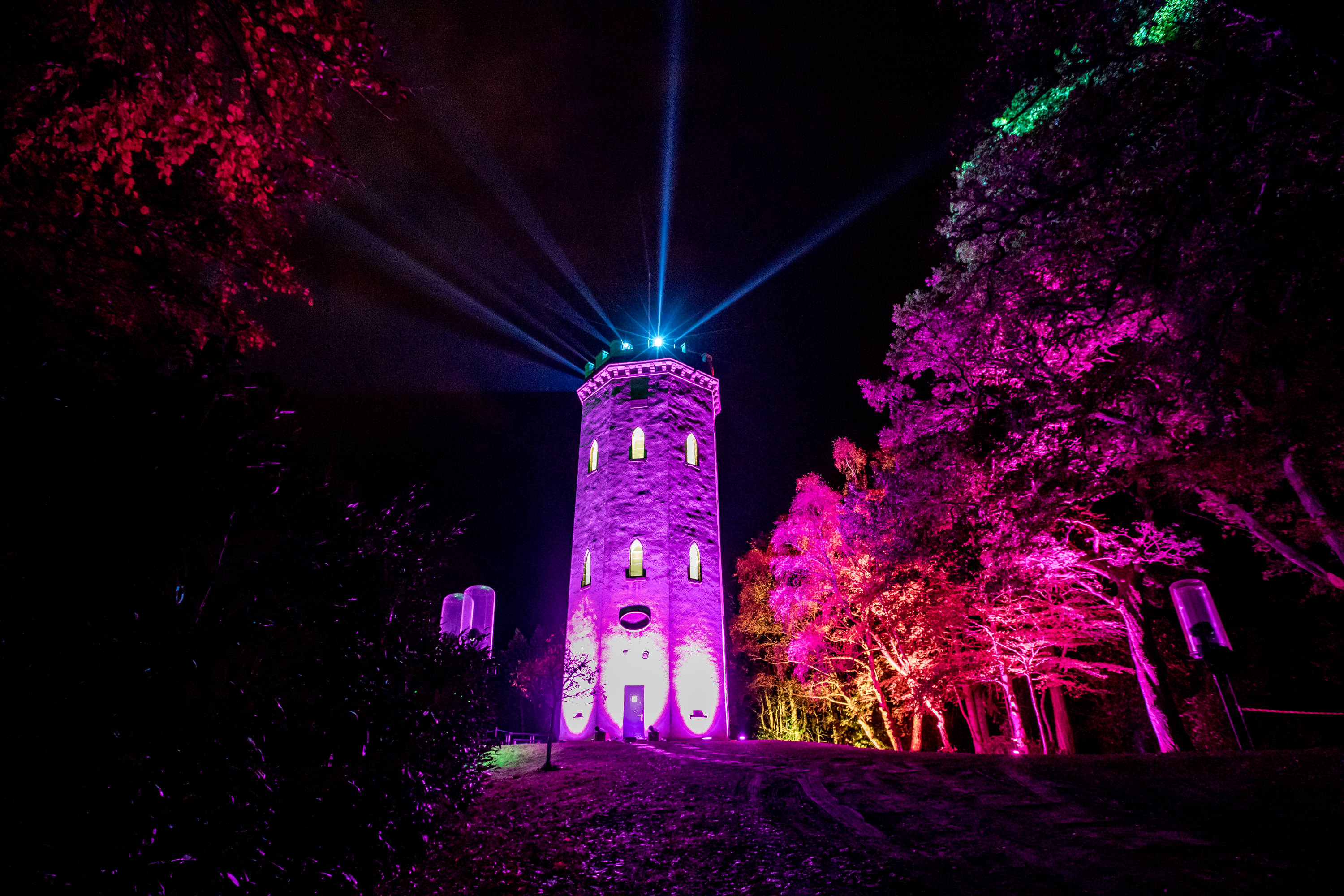 The centre-piece of Colours of Cluny is a lights show at Nelson's Tower.