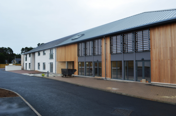 The new homes built for elderly people in Elgin.