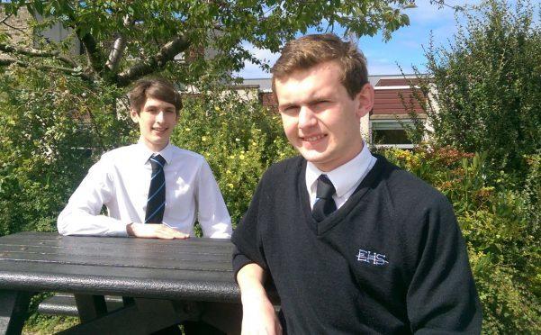 Elgin High School pupils Ciaran Barron and Ryan Lanigan both got perfect exam results.