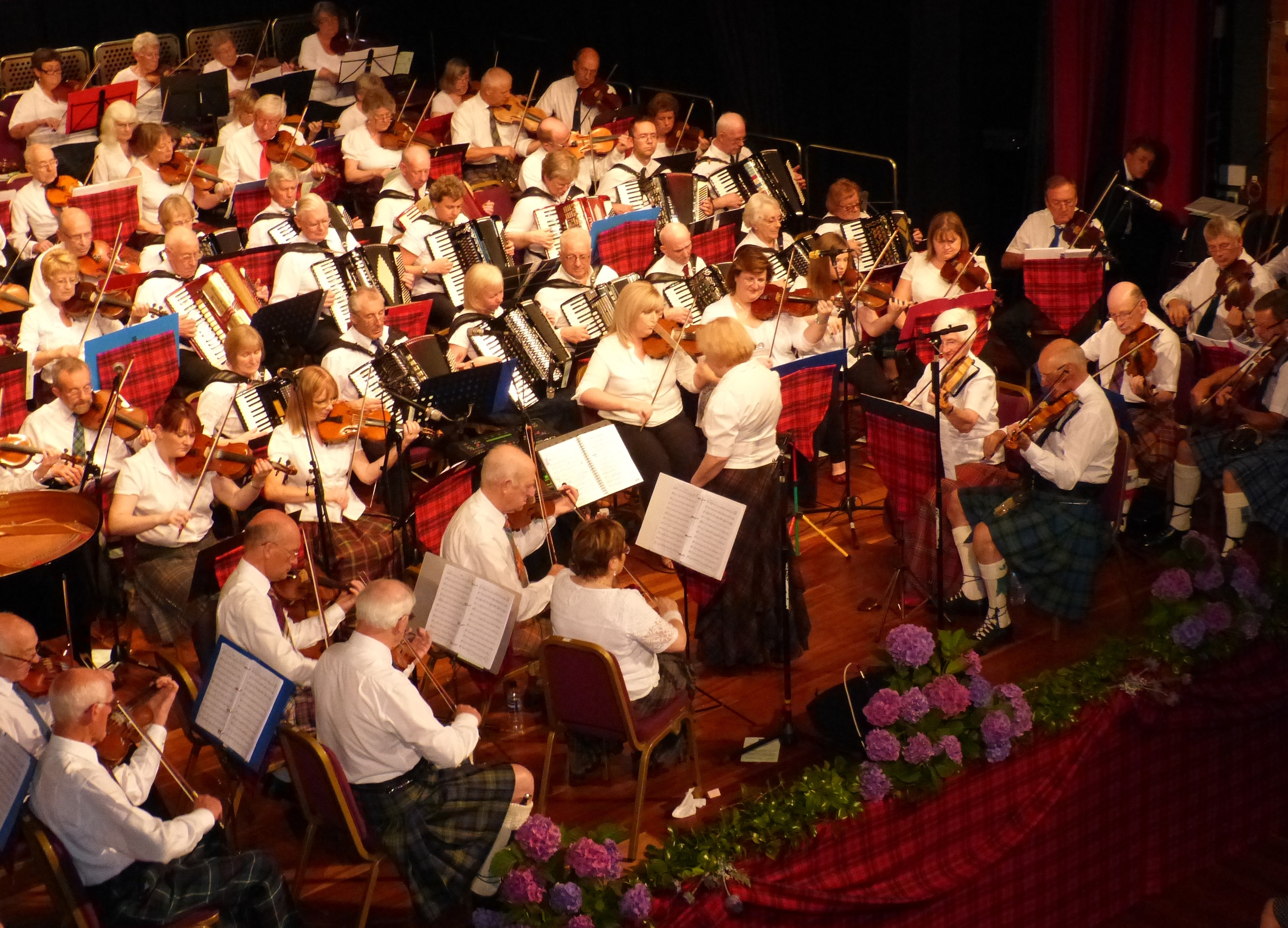 Nearly 100 people are expected to join the orchestra in Elgin Town Hall for the performance.