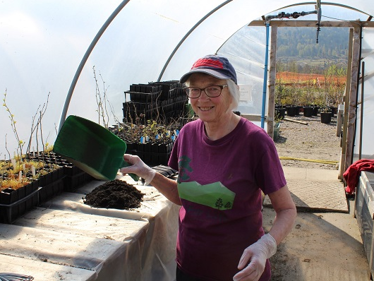 Fay Blackburn has volunteered for Trees for Life for more than 20 years.