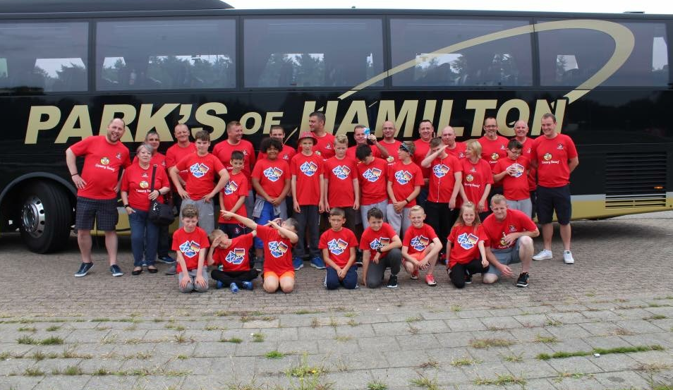 The group made their way from Forres to Vienenburg by coach and boat