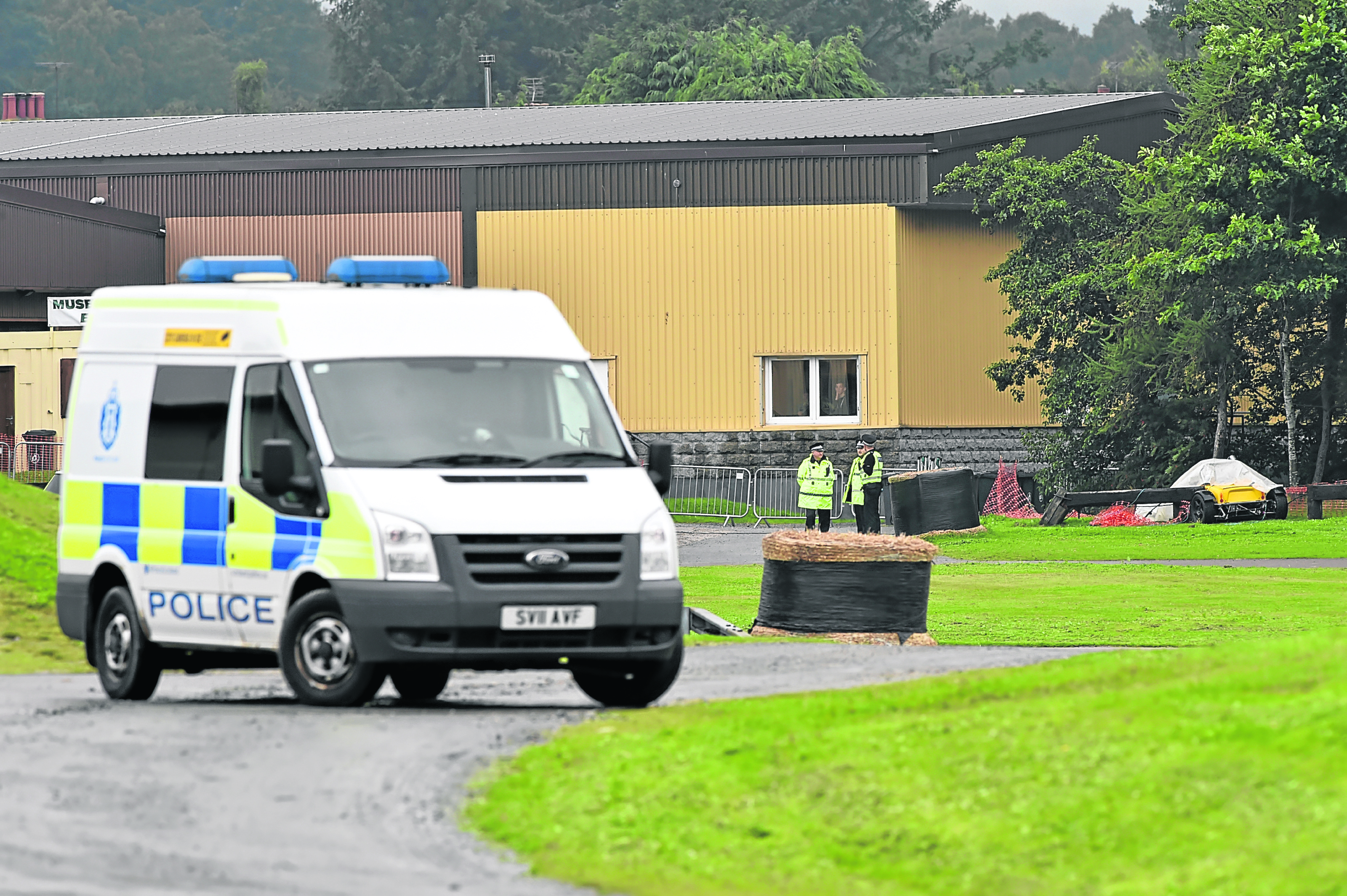 The scene at the Grampian Transport Museum yesterday. Pics by Kenny Elrick.