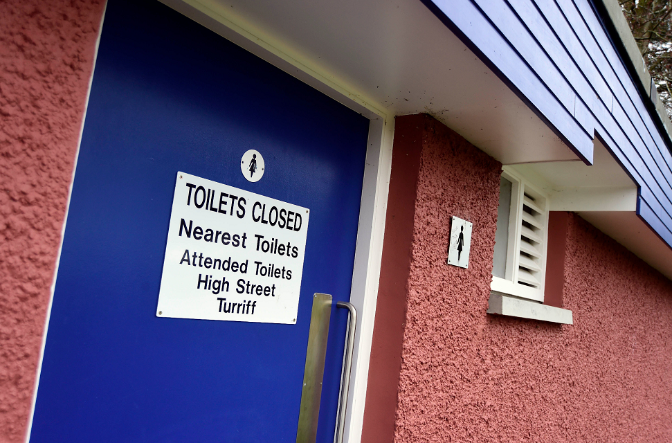 The toilet at the Haughs in Turriff was earmarked for closure.