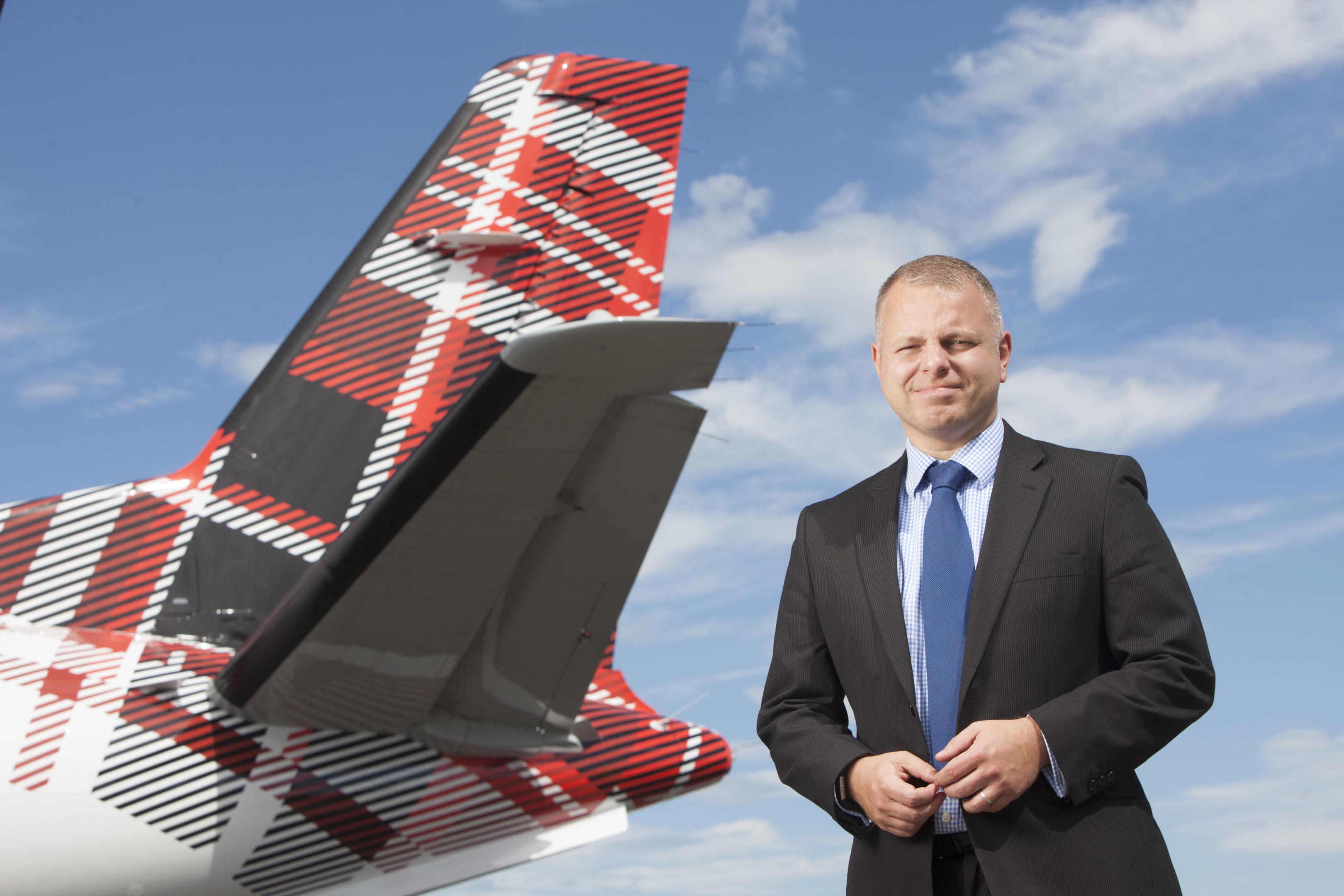 Jonathan Hinkles, Managing Director of Loganair
