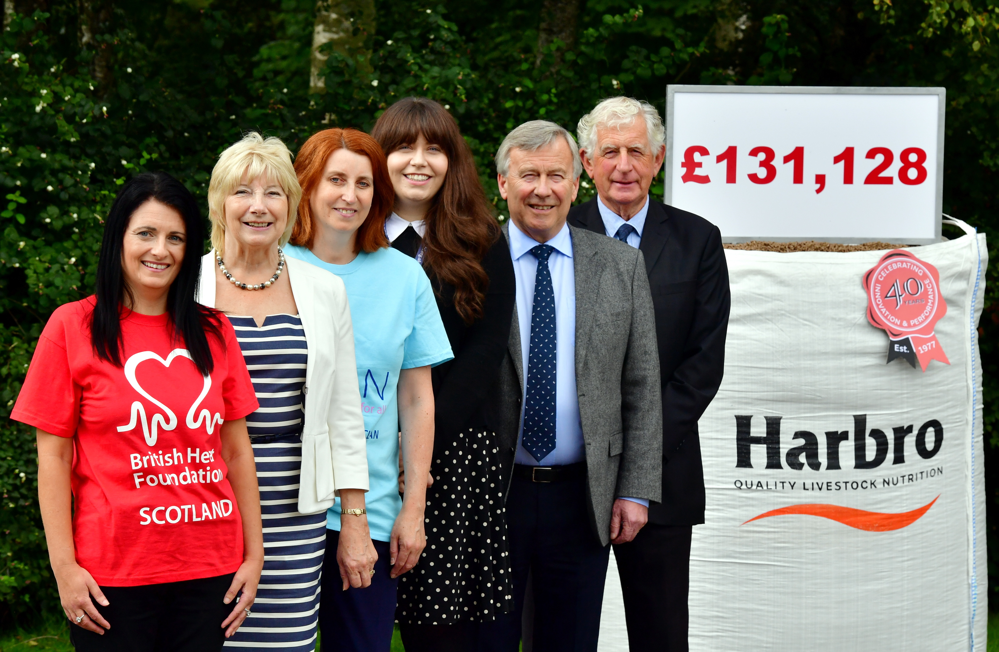 Pictured - L-R Margaret McWilliam British Heart Foundation), Sheena Dunsmore (Kidney Kids Scotland), Moureen Wilson (corr)(CLAN), Claire Henderson (JDRF), Graham Baxter MD and Peter Kenyon chairman. Picture by Kami Thomson