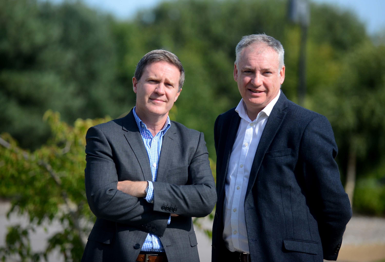 Alasdair Pattinson, general manager of Dr Gray's Hospital, and Moray MSP Richard Lochhead
