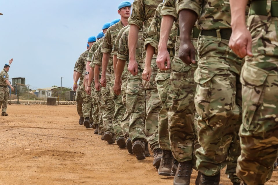 Almost 400 British troops have been posted in South Sudan as part of the UN peacekeeping mission.