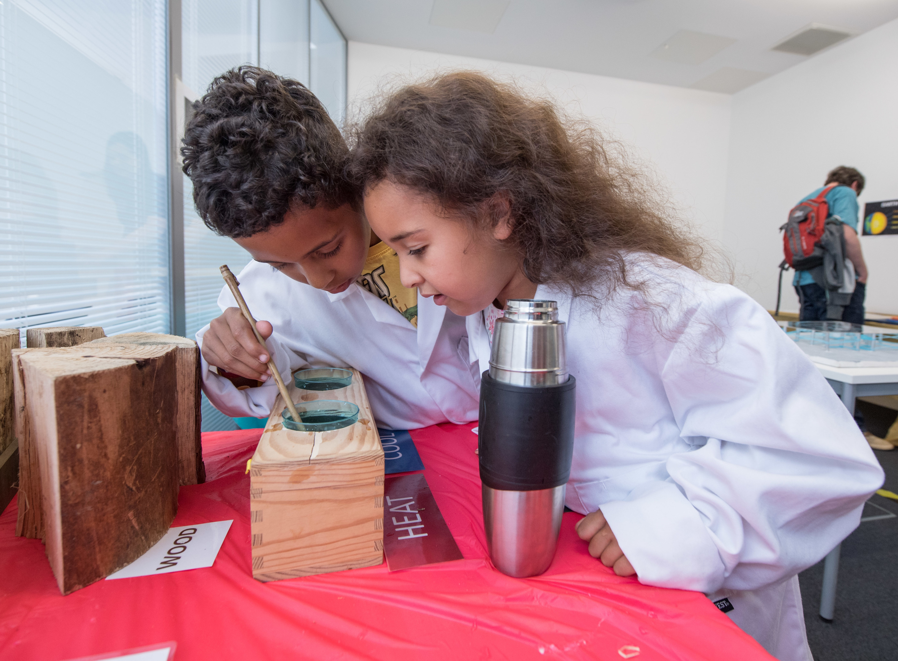 Oliver and Gabrielle Njugana solving a science puzzle