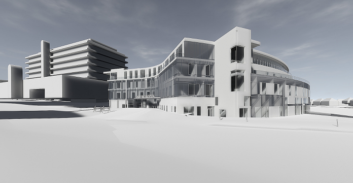 Artist's impression of The Baird Family Hospital.