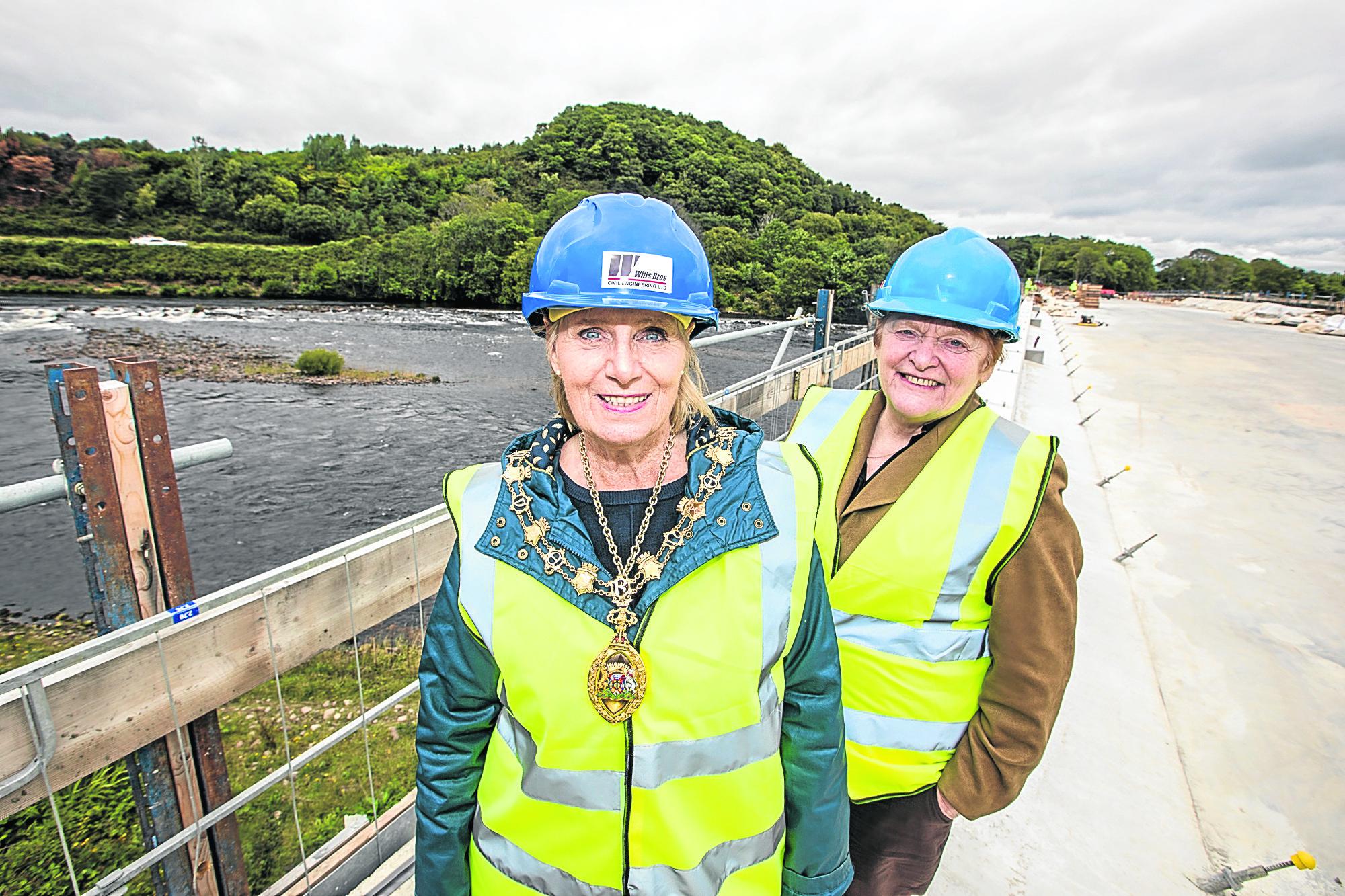 Provost of Inverness Helen Carmichael and Council Leader Margaret Davidson