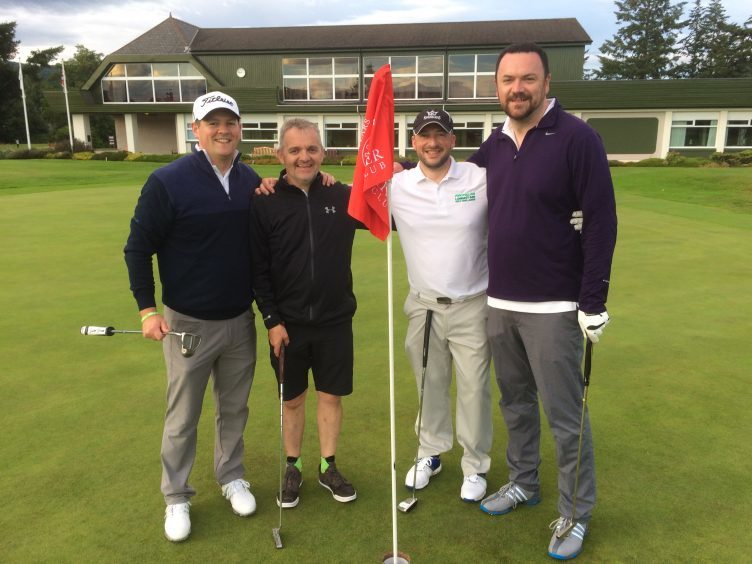 Golfers (L-R) Mike Robbie, Keith Young, Graeme McDonald and Neil Archibald.