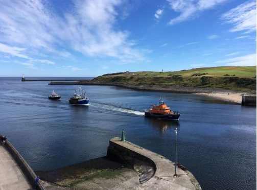 The Q-Varl being towed after its propeller failed. (Picture: Aberdeen Lifeboat)