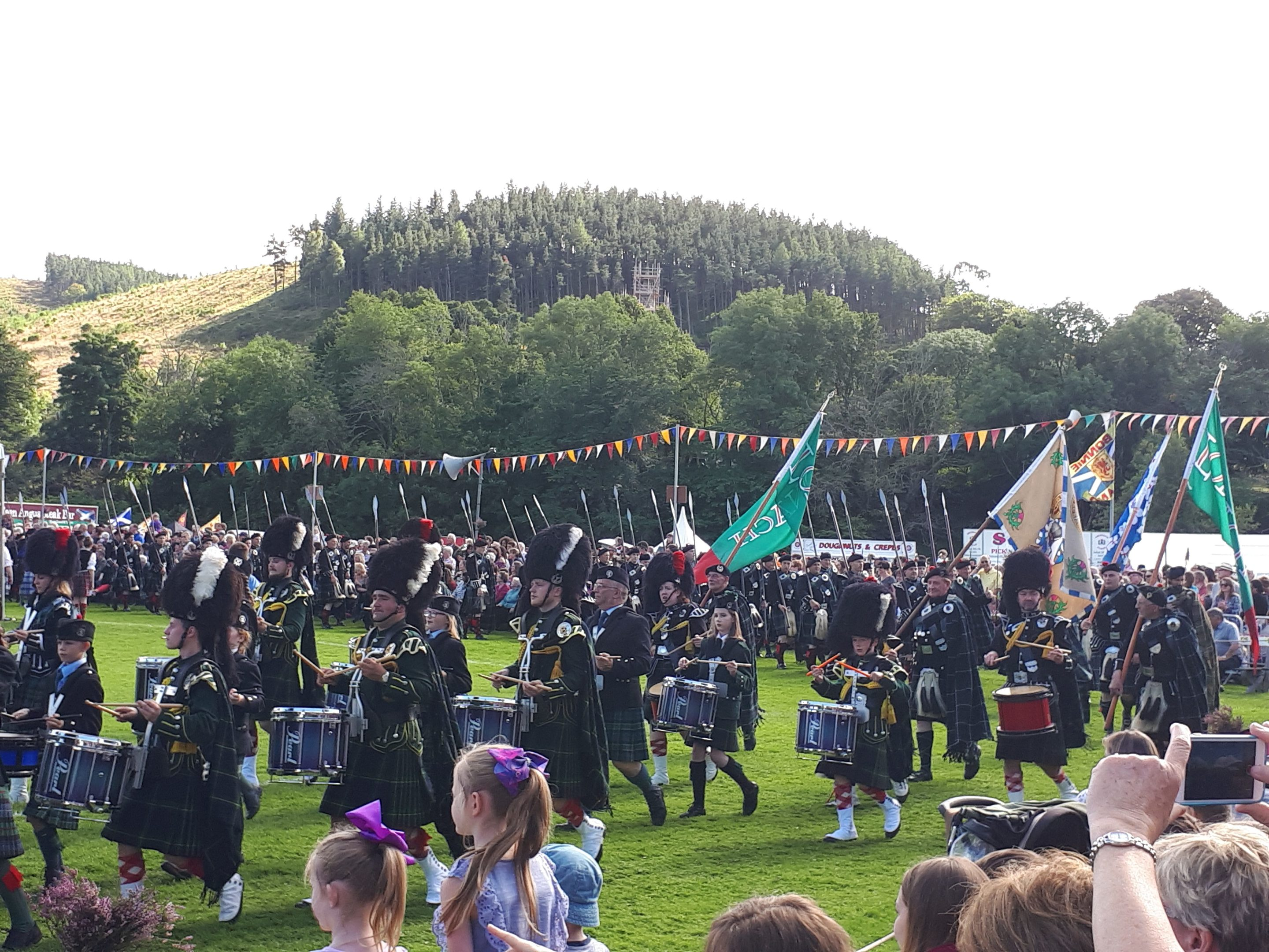 The march of the Lonach Highlanders, at last year's event.