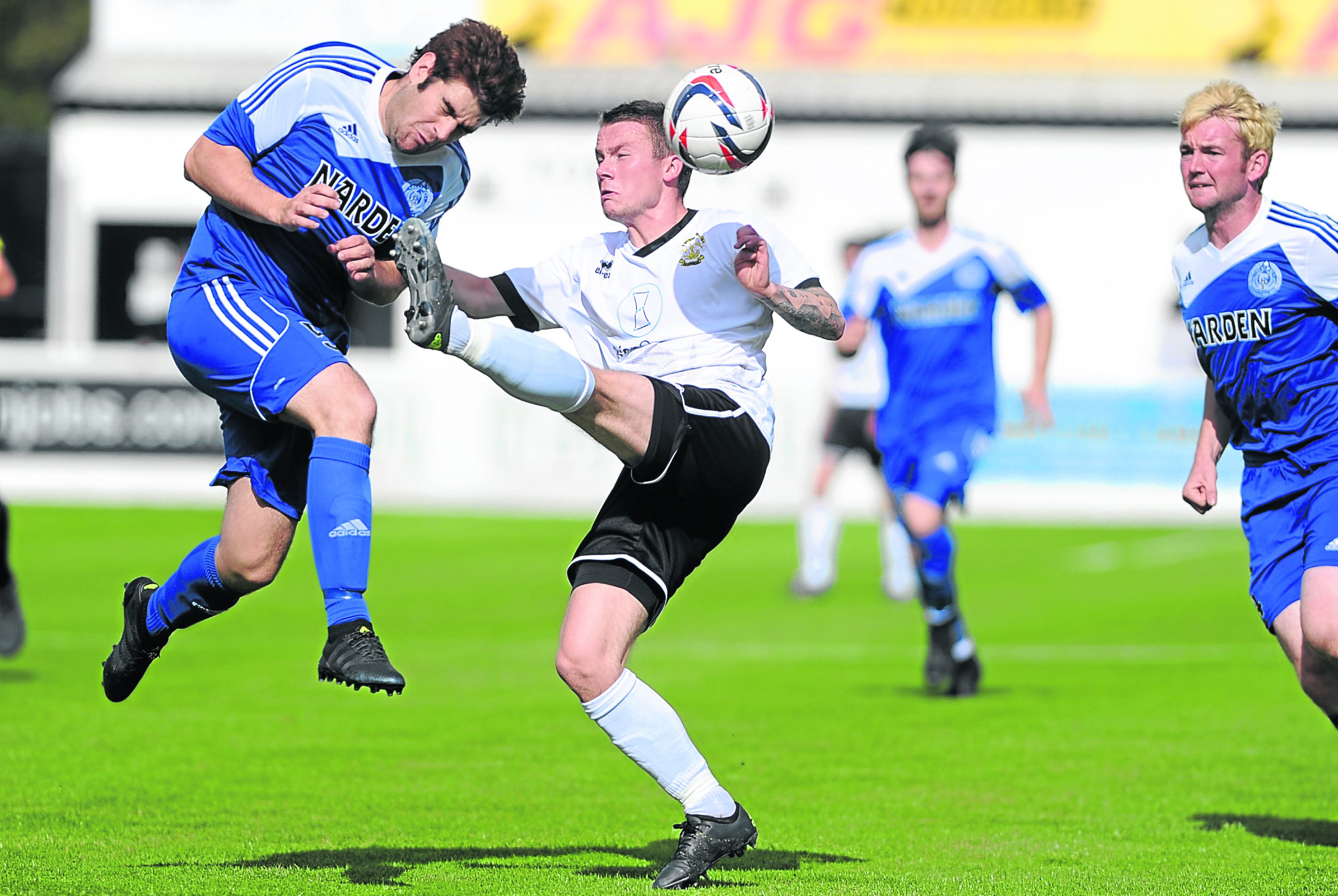Nairn's Calum Riddell, left, was diagnosed three months ago