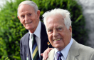 Gordon Highlander Jim Glennie (left) and Karl Hunnold, a former private in the Fallschirmjaeger-Regiment 6.