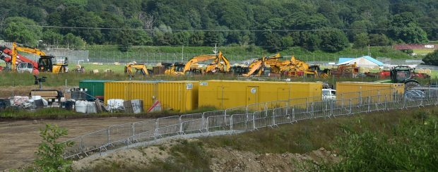 Yellow cabins are used which contain toilet and canteen facilities. Picture by COLIN RENNIE    July 11, 2017.