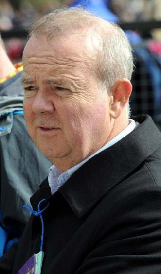 Ian Hislop visiting the gathering in 2013