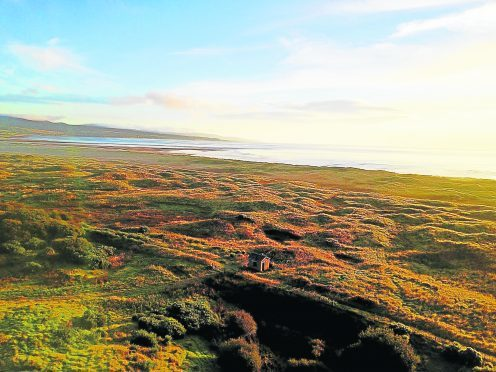 Coul Links, where a proposed golf course would be built.