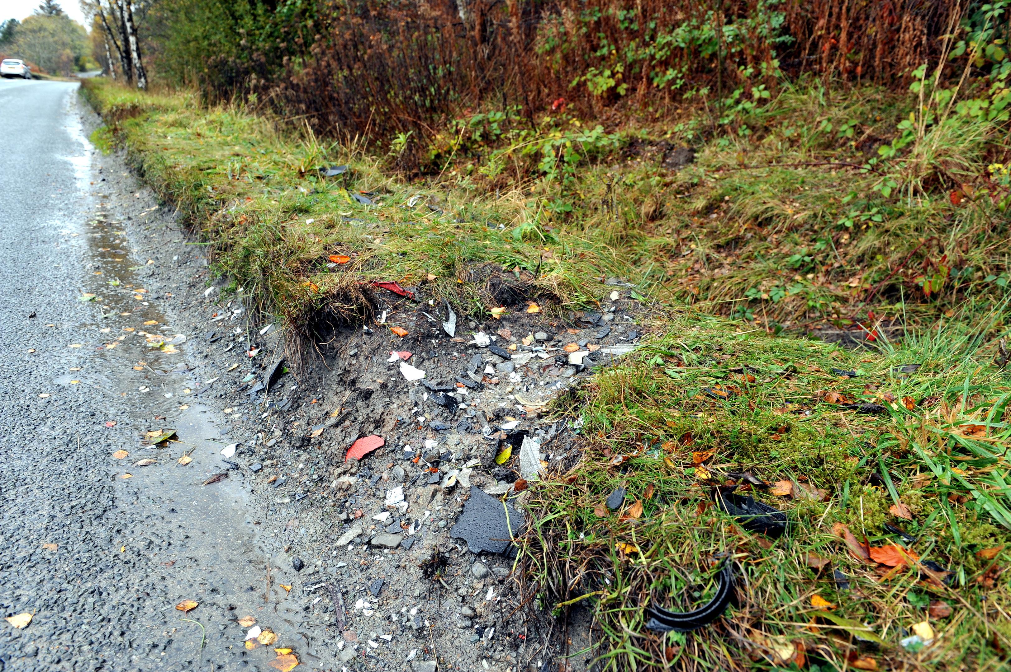 The scene of the 2014 crash