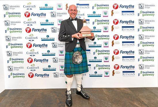 Graham Macwilliam of The Macallan, winners of Moray Main Business Award
