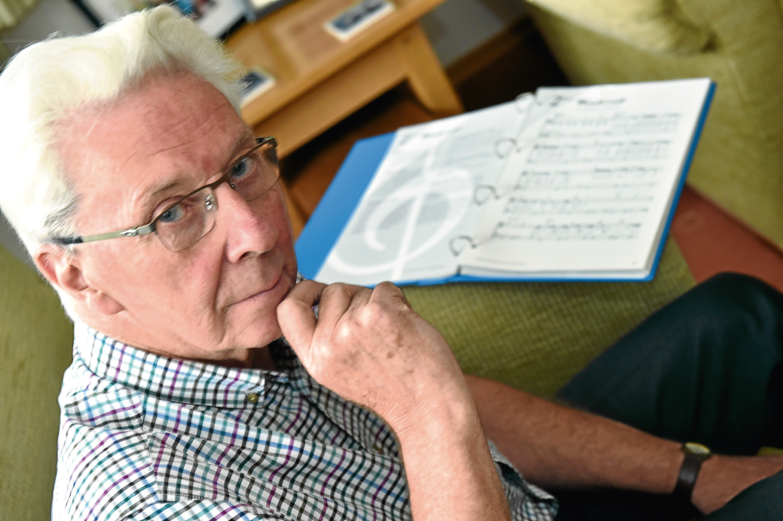 Neil Meldrum, former music teacher to Annie Lennox. Pic by Colin Rennie.