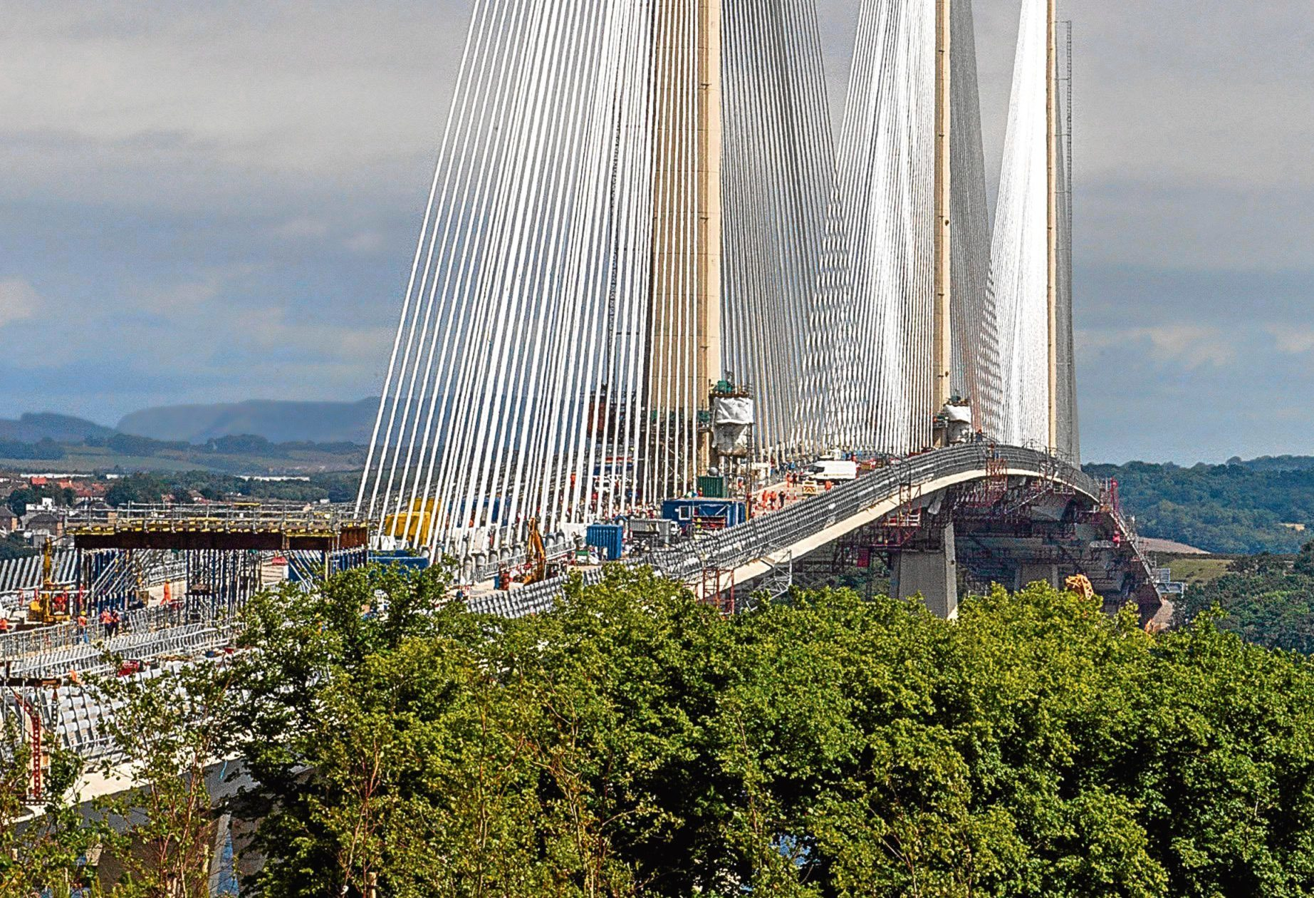 Queensferry Crossing in the Firth of Forth