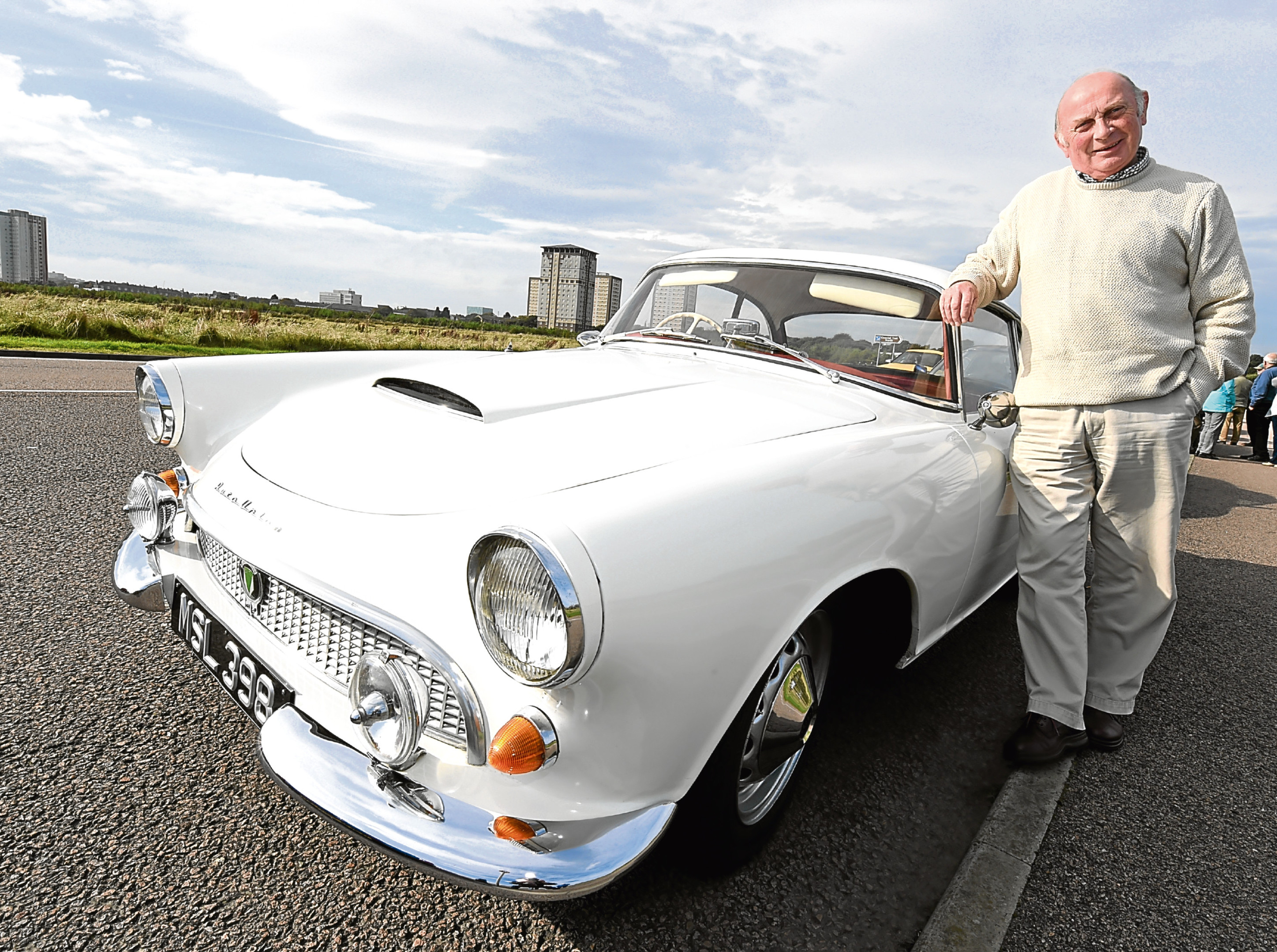 The start of the Kildrummy rally at the Beach Promanade, Aberdeen. In the picture is David Simon, Garlogie, with his 1961 Auto Union, 1000cc SP.   Picture by Jim Irvine  24-9-17