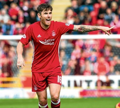 Greg Tansey in action for Aberdeen