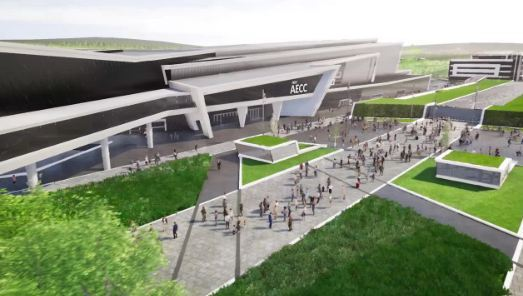 The new AECC is expected to open in 2019.