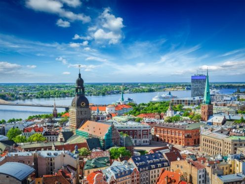 An aerial view of Riga.