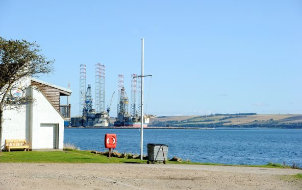The Cromarty Firth close to the Invergordon Boating Club. Pic by Sandy McCook.