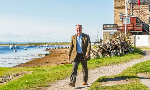 Frank Allan, chairman of the Findhorn Village Conservation Company, is eager to improve access to the shore of Findhorn Bay.