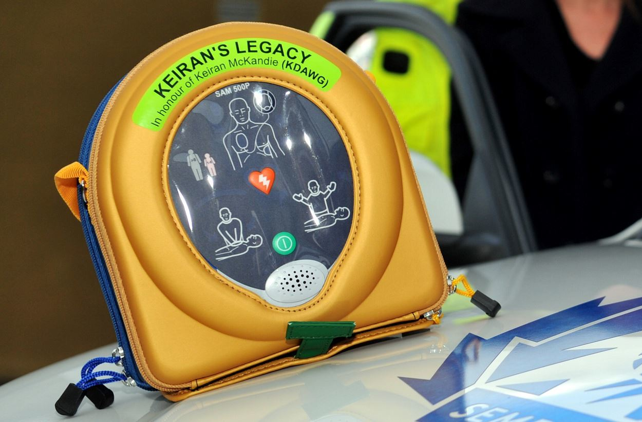 Defibrillators bearing the name of Keiran McKandie have been carried in police cars across the north-east.