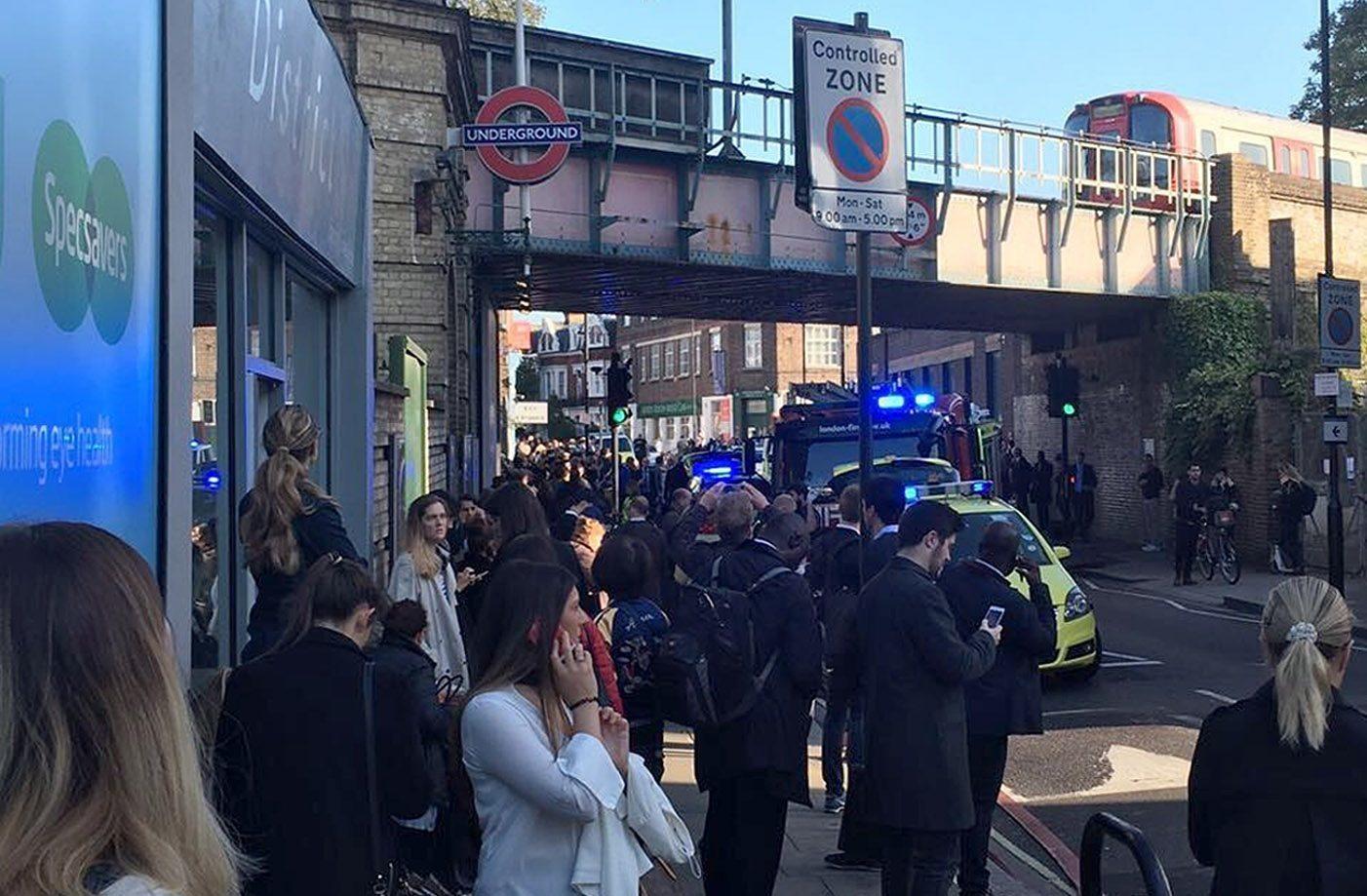 The scene in London