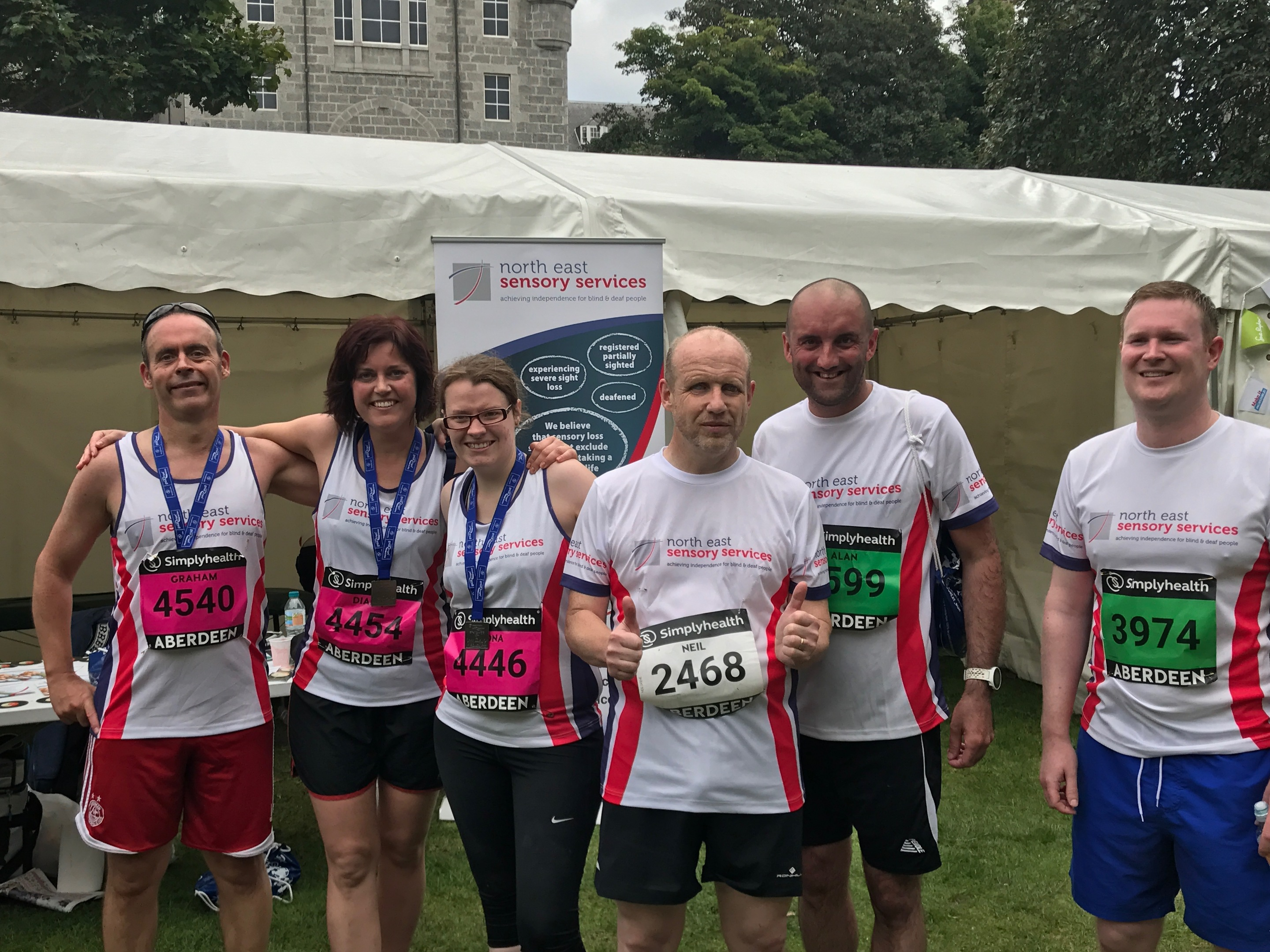 Neil with the other NESS team members at the Great Aberdeen Run