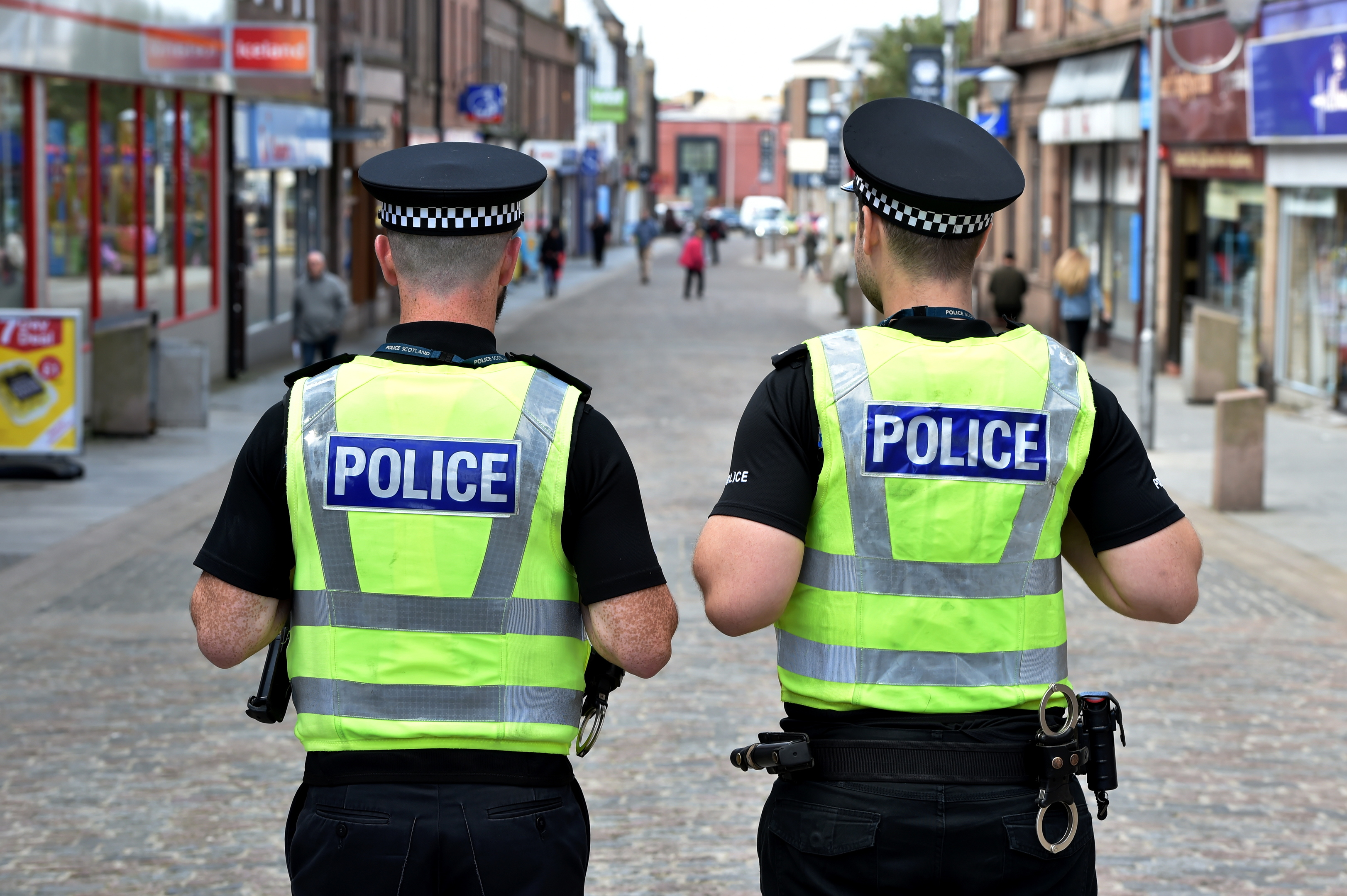Police on patrol in Peterhead.