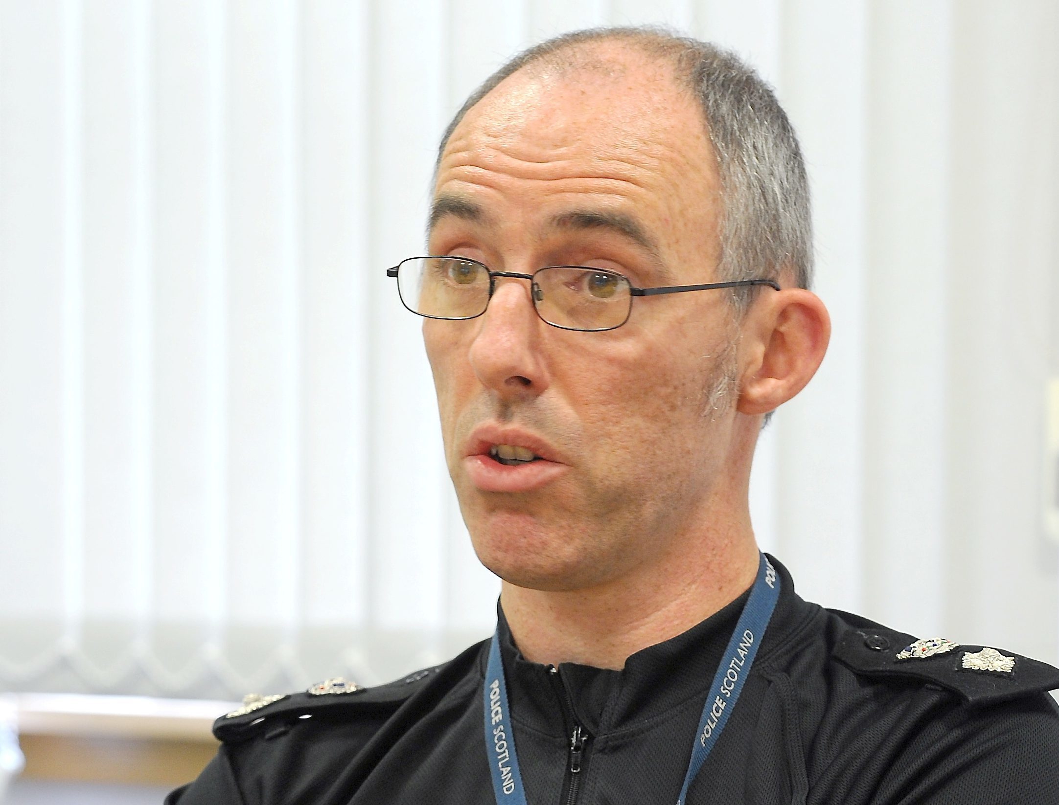 Chief Superintendent George Macdonald. Picture by Sandy McCook