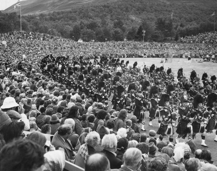 The Massed Pipe Band Parade in 1978