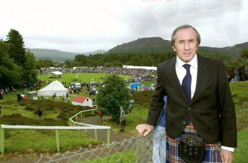 Sir Jackie Stewart was among the crowds in  2001