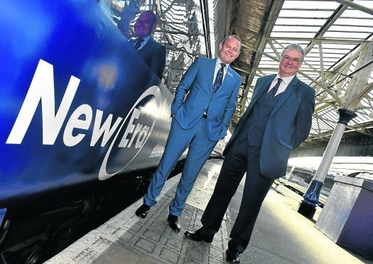 ScotRail Alliance managing director Alex Hynes (left) was joined by Transport Scotland Rail Franchise Director Bill Reeve. Picture by Colin Rennie