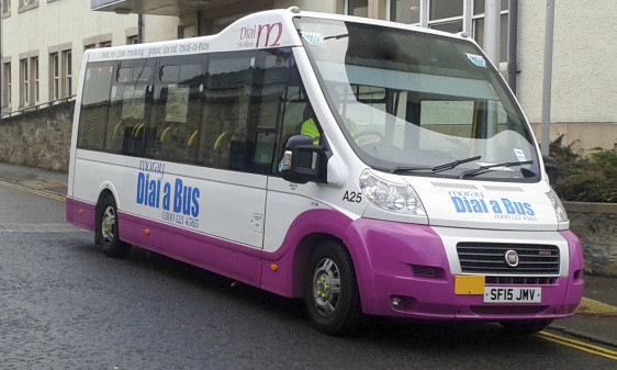 Moray Council's only bus route runs between Elgin and Kingston.