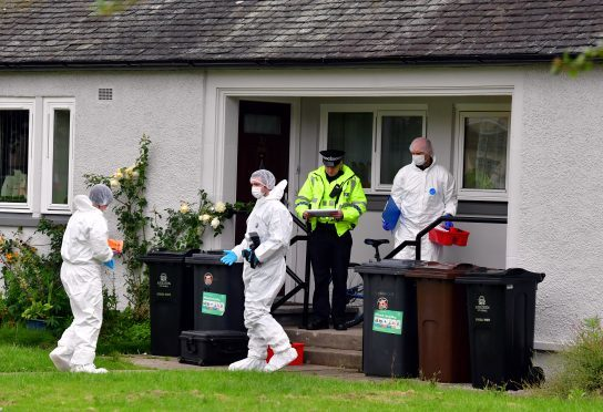 Police and forensics were on the scene yesterday. Picture by Kami Thomson