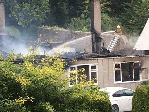 Firefighters were still on scene at 11am on Friday morning
