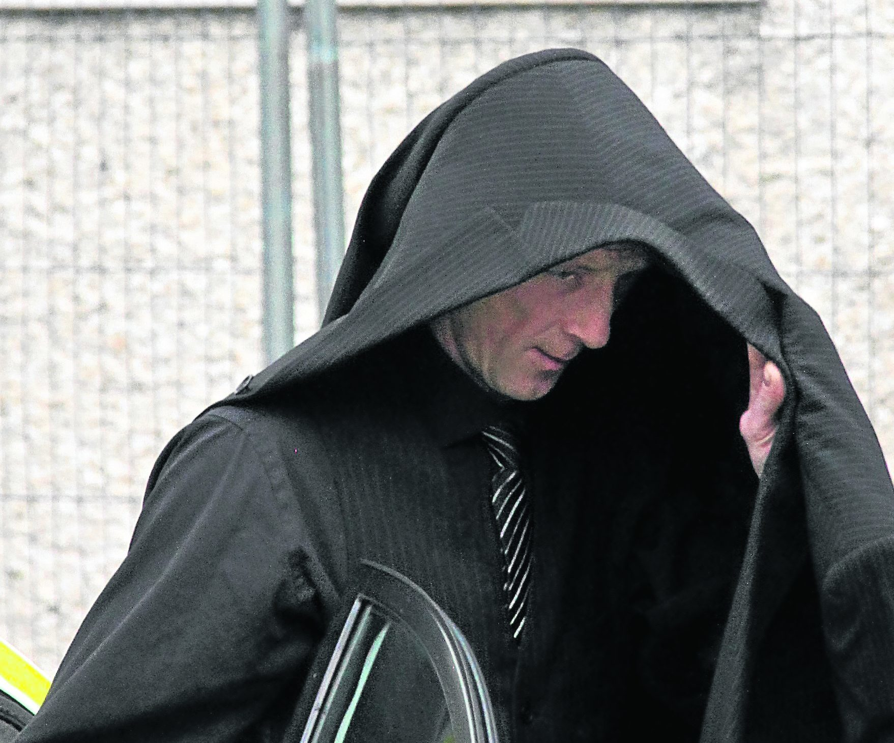 Edward Richardson leaves Fort William Sheriff Court.