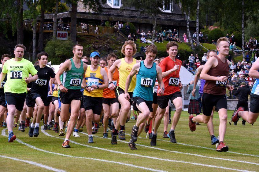 The start of the hill race